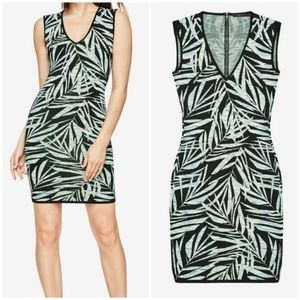 BCBG MAXAZRIA Gari Palms Jacquard Knit Dress